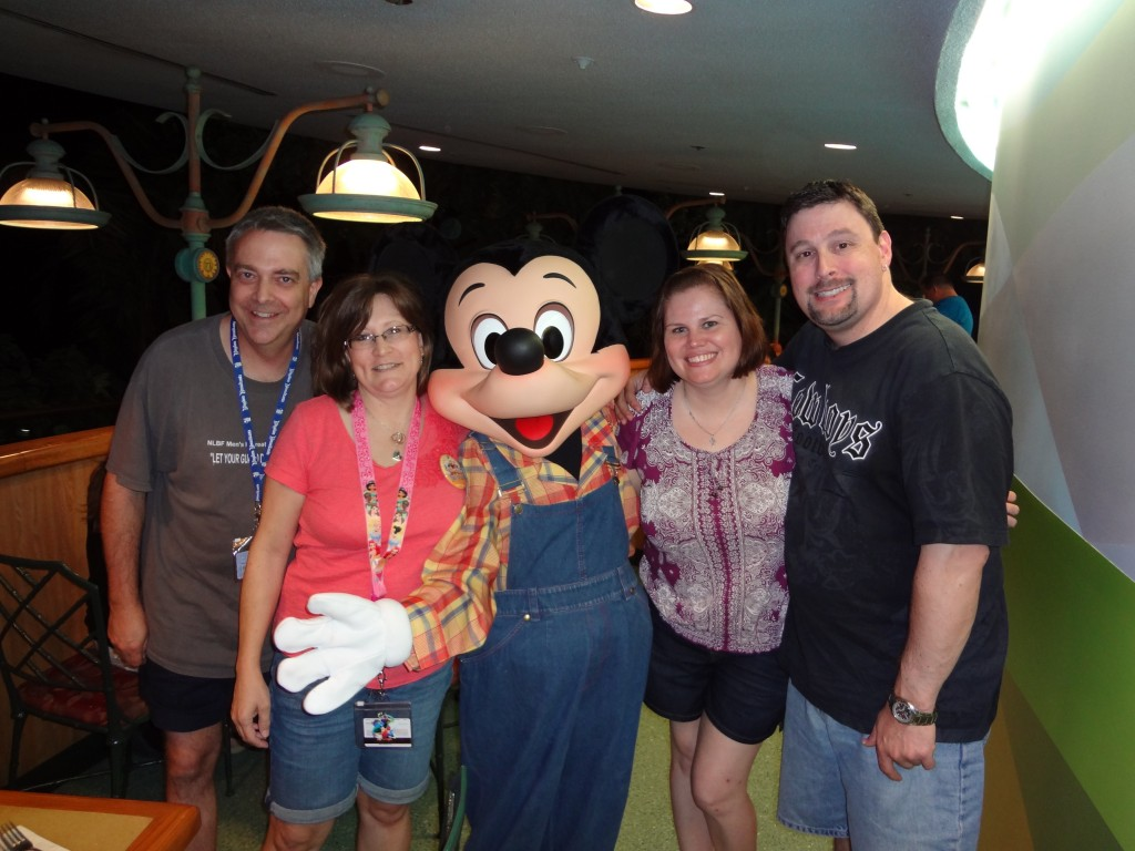 Meeting Mickey at Garden Grill