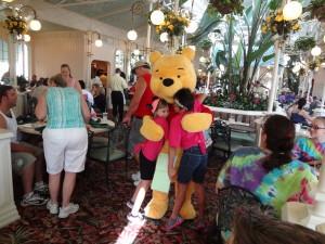 A big BEAR hug with Winnie the Pooh!