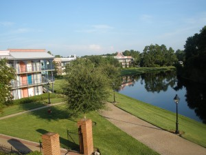 View of Sassagoula River from Building 5.