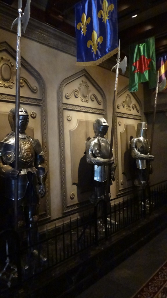 Enchanted Knights in the Entrance Hall