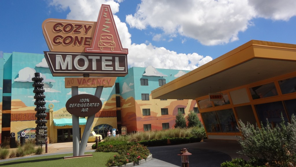 The Cozy Cone Motel at Disney's Art of Animation Resort