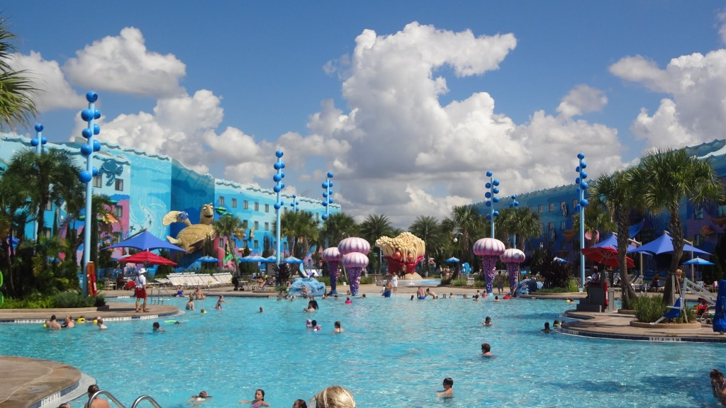 The Big Blue Pool - the main pool at the Art of Animation Resort